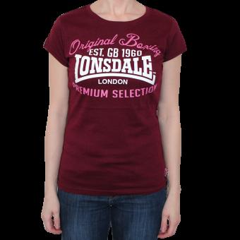 "Lonsdale ""Amble"" Girly Shirt (burgund)"