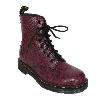 """Dr. Martens """"Pascal Viper"""" Girl Boot (8 Loch) (wine)"""