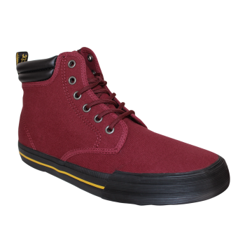 "Dr. Martens ""Eason"" Canvas Boot (6 Loch) (cherry red)"