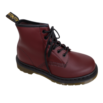"Dr. Martens ""101 Smooth"" Boot (6 Eye) (cherry red)"