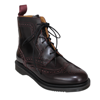 """Dr. Martens """"Delphine"""" Girl Brogue Boot (cherry red)"""