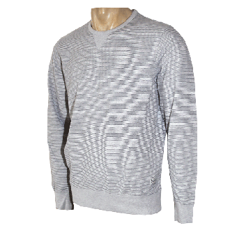 "Ben Sherman ""Classic Fine Stripe Crew"" Sweat (Authentic Marl)"