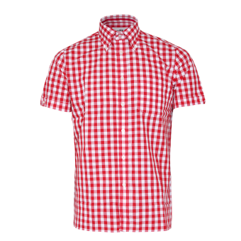 "Brutus ""Trimfit"" Hemd (Red Large Gingham)"
