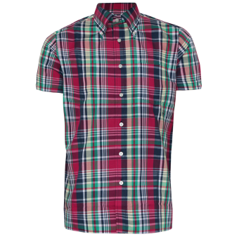 "Brutus ""Trimfit"" Hemd (Red Madras Check)"