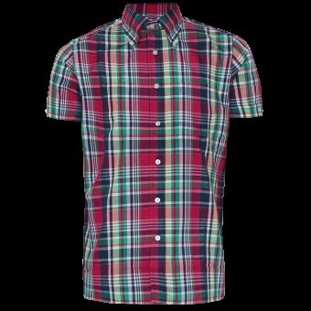 """Brutus """"Trimfit"""" Shirt (Red Madras Check)"""