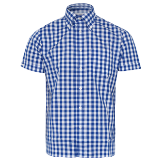 "Brutus ""Trimfit"" Hemd (Blue Large Gingham)"