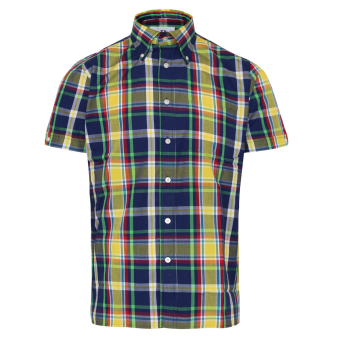 "Brutus ""Trimfit"" Shirt (Blue/Green Madras Check)"