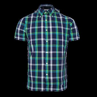 """Brutus """"Trimfit"""" Hemd (Blue GreenTartan)"""