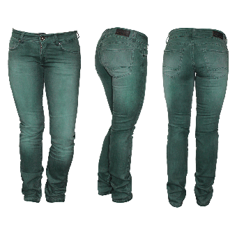 "Fuga ""Tatum"" Girly Jeans (slim) (green)"