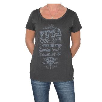 """Fuga """"Clarissa"""" Girly Shirt (black) (reduziert)"""