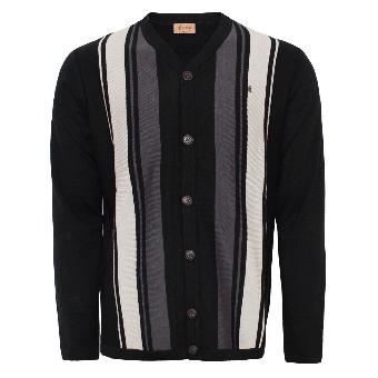 Gabicci Stripe Cardigan (schwarz)