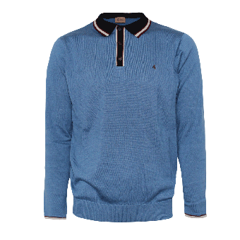 Gabicci Mod Knit Polo (blue)