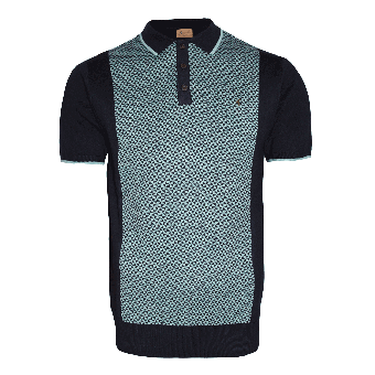 Gabicci Vintage Knit Polo (navy)