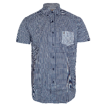 Gabicci Vintage Printed Button Down Shirt (navy)