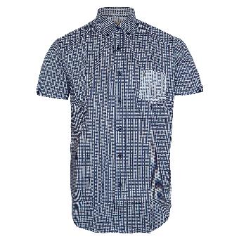 Gabicci Vintage Printed Button Down Shirt (navy)
