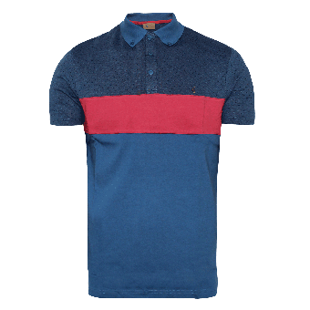 Gabicci Vintage Retro Polo (blue)