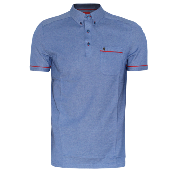 Gabicci Button Down Polo (blue)