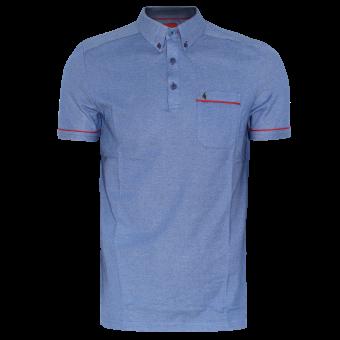 Gabicci Button Down Polo (blue)