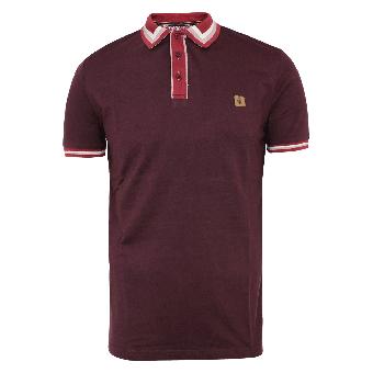 Gabicci Vintage Mod Polo (burgund)
