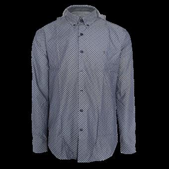 Gabicci Retro Print Shirt (navy)