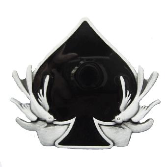 Swallow with ace of Spade- Gürtelschnalle / buckle