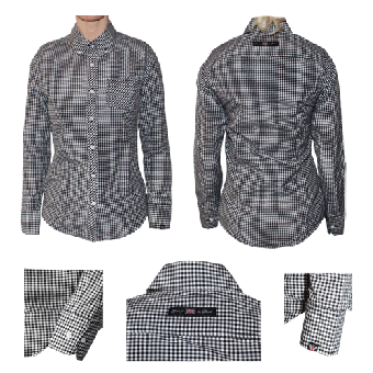 "Spirit of the Streets ""Brighton"" Lady Button Down Hemd (lang)"