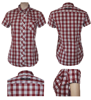 """Spirit of the Streets """"Beccles"""" Lady Button Down Hemd (kurz)"""