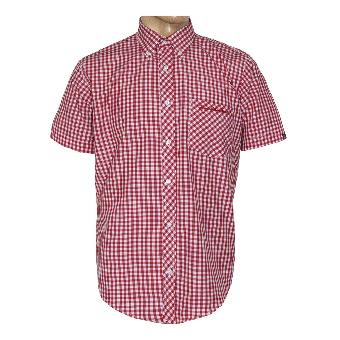 "SotS ""Midcheck Red"" Button Down Hemd (kurz)"