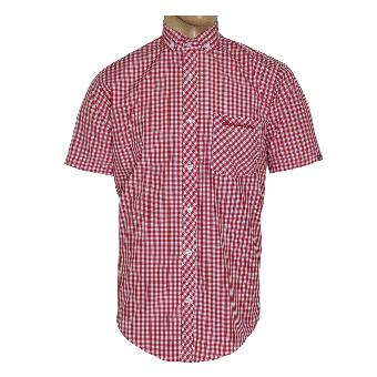 """SotS """"Midcheck Red"""" Small Button Down Hemd (kurz)"""