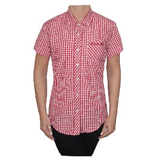 "SotS ""Midcheck Red"" Lady Button Down Hemd (kurz)"