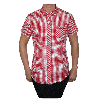 "SotS ""Midcheck Red"" Lady Small Tab Hemd (kurz)"