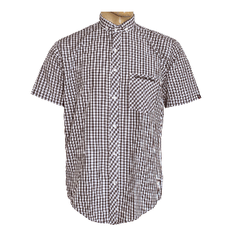"SotS ""Midcheck Brown"" Small Button Down Hemd (kurz)"