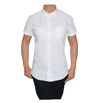 "SotS ""White"" Lady Small Button Down Hemd (kurz)"