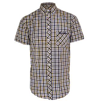 """SotS """"Crosby"""" Button Down Hemd (yellow/blue)"""