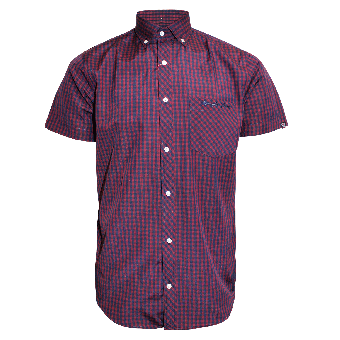 "SotS ""Barrow"" Button Down Shirt (red/blue)"