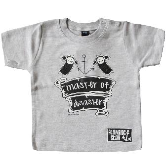 """Flaming Star """"Master of Disaster"""" Baby Shirt"""