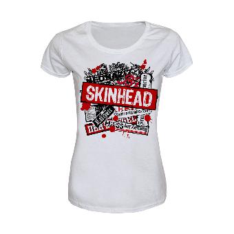 Skinhead vs. Presse Girly Shirt (white)