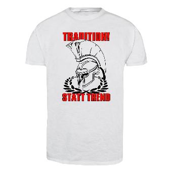 Tradition! statt Trend T-Shirt (white)