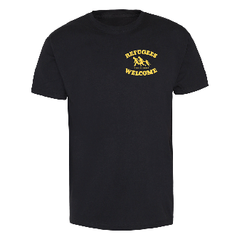 """Refugees welcome """"Bring your families"""" (Brustdruck) T-Shirt"""