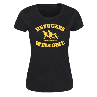 "Refugees welcome ""Bring your families"" Girly Shirt"