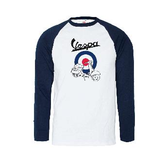 """Vespa """"Target"""" Baseball Longsleeve (white)"""