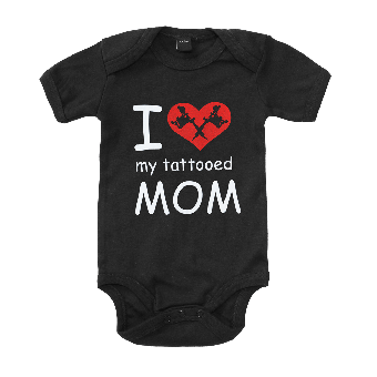 I love my tattooed Mom - Baby Bodysuit