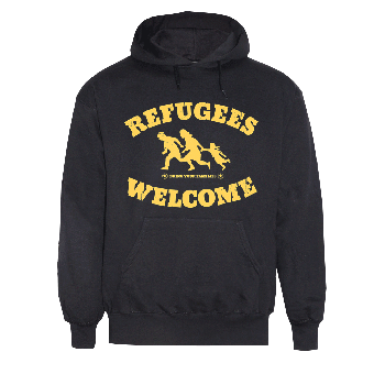 """Refugees welcome """"Bring your families"""" hoody"""