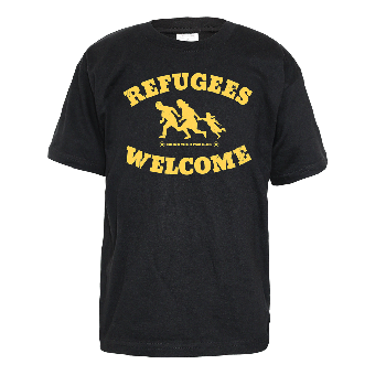 """Refugees welcome """"Bring your families"""" Kids Shirt"""