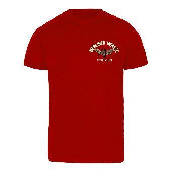 """Berliner Weisse """"Motten und Licht"""" T-Shirt (dunkelrot)"""