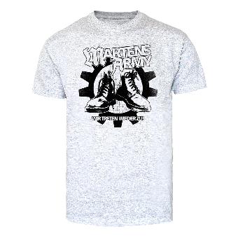 """Martens Army """"Wir treten wieder zu"""" T-Shirt (grey)"""