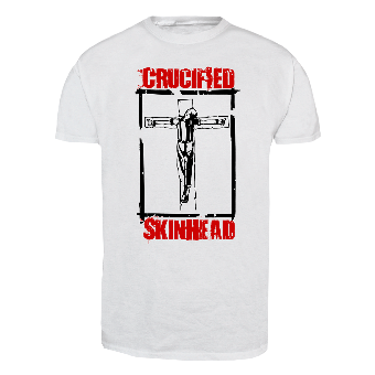 "Crucified Skinhead ""Frame"" T-Shirt (white)"