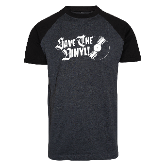 Save the Vinyl Raglan T-Shirt (white/black)