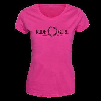"Rude Girl ""Our Cult"" Girly Shirt (fuchsia)"