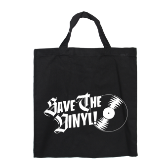 Save the Vinyl - Baumwoll Stoffbeutel (kurz)
